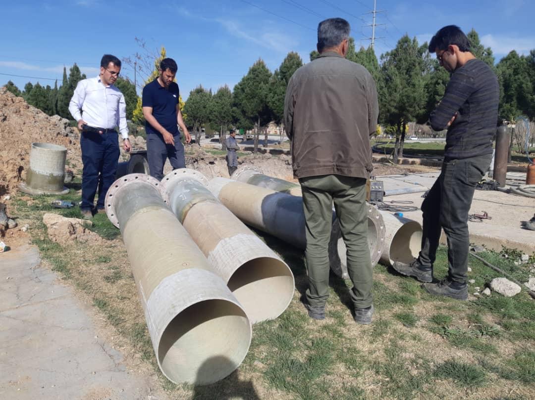 تعویض کلکتور اب شهرک صنعتی بزرگ شیراز